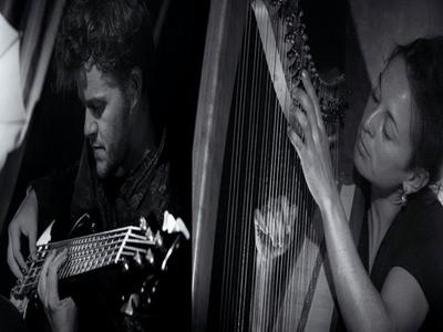 Duo Harpe celtique et et basse par Katell Boisneau et Matthieu Tomi