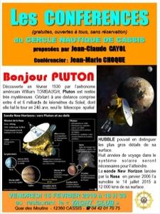 """Conférence """"Découverte de la planète Pluton"""""""
