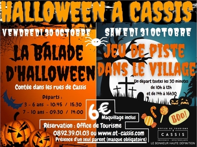 The Halloween storytelling walk for children from 7 to 10 years old - Cassis, France